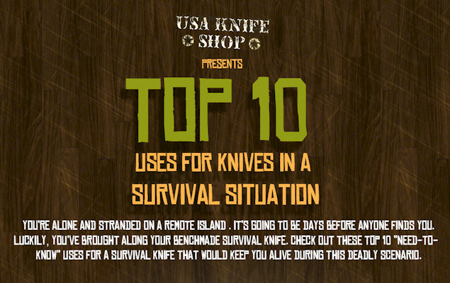 Top 10 Uses For Knives in a Survival Situation