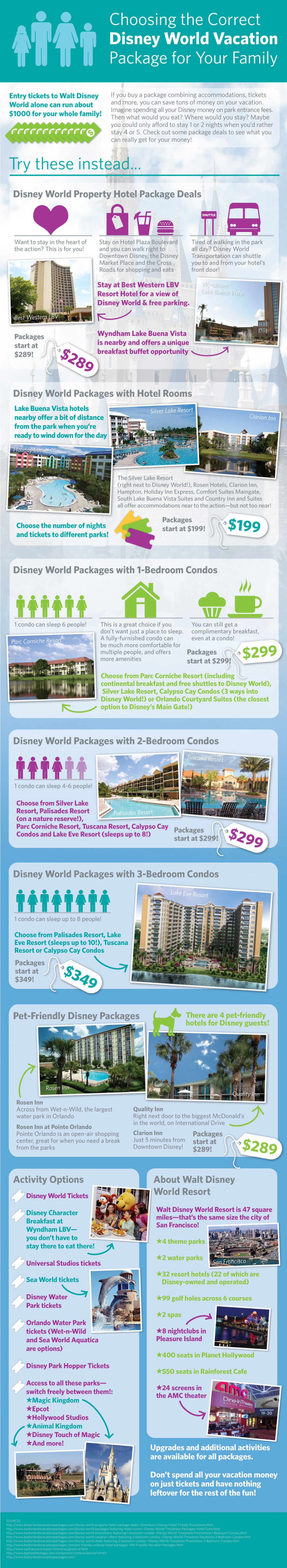 Choosing the Correct Disney World Vacation Package for Your Family