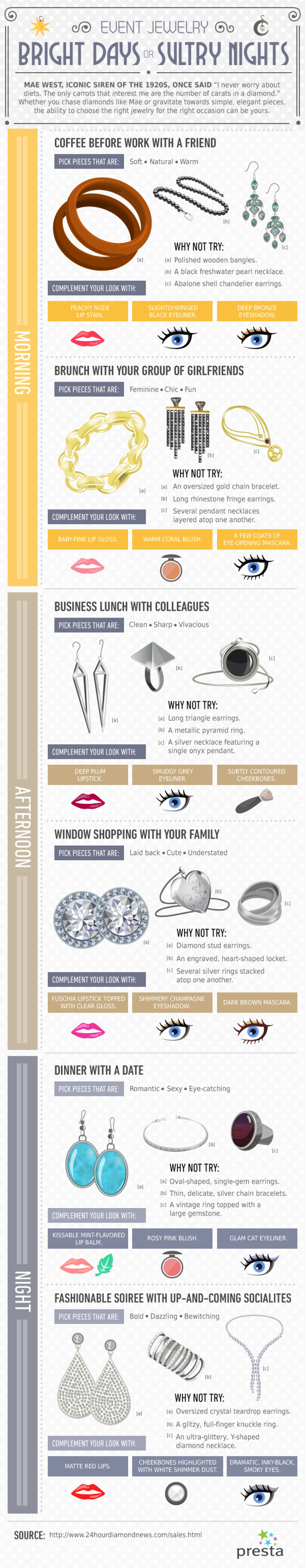 Event Jewelry: Bright Days Sultry Nights