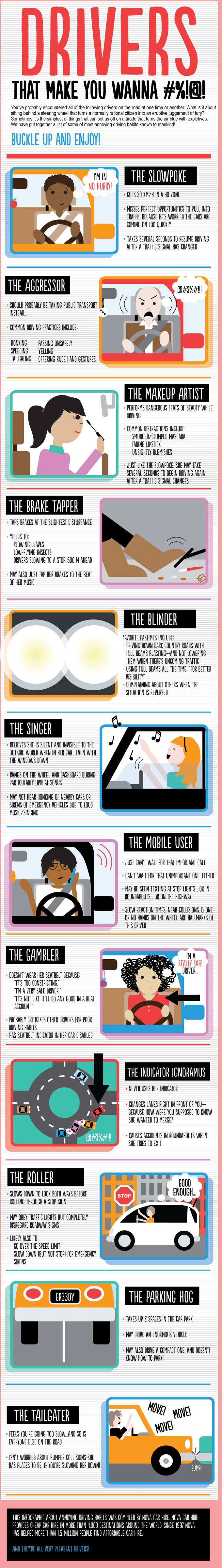Annoying Driving Habits: Drivers That Make You Want To #%!@!