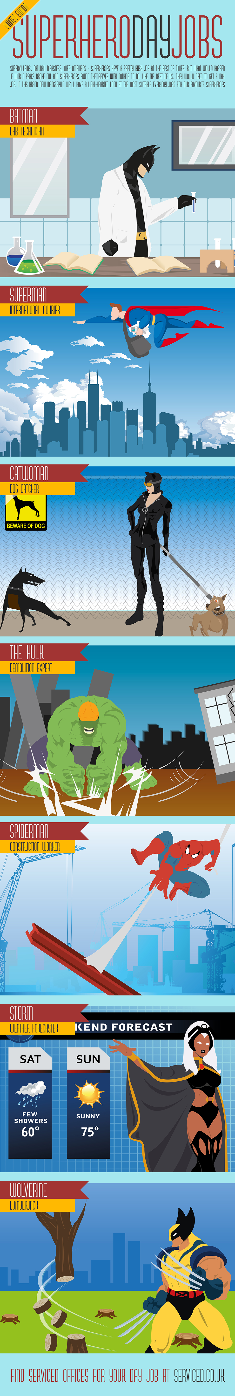 Superhero Day Jobs