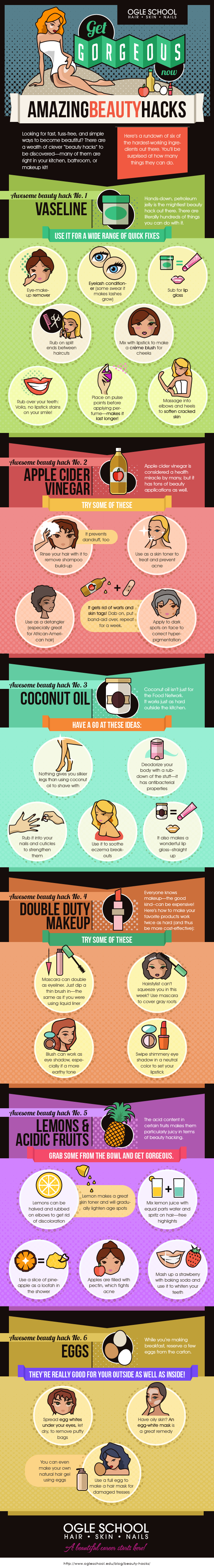Beauty Hacks IG final1 Get Summer Gorgeous Now | Infographic
