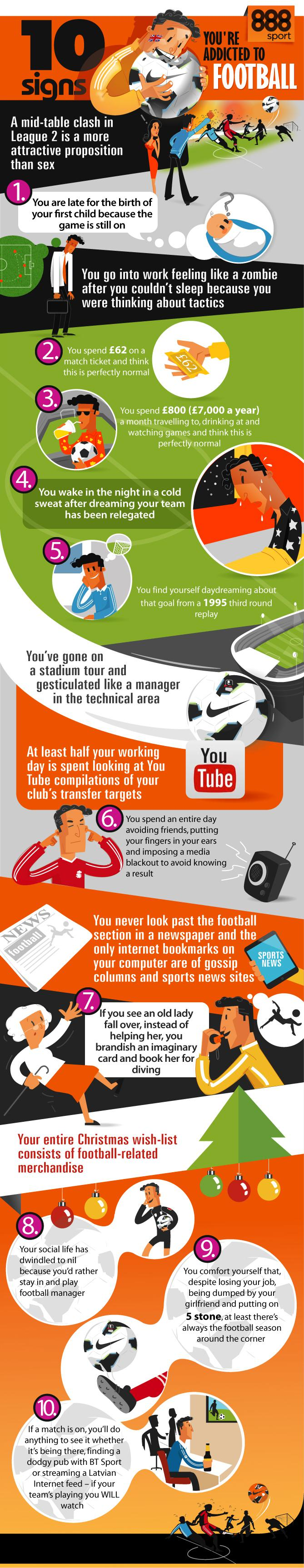 10 Signs You're Addicted to Football