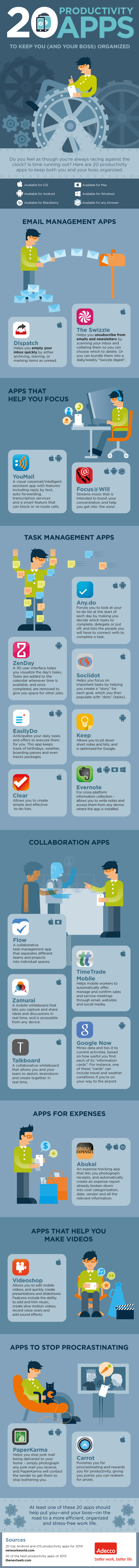 20 Productivity Apps To Keep You (And Your Boss) Organized