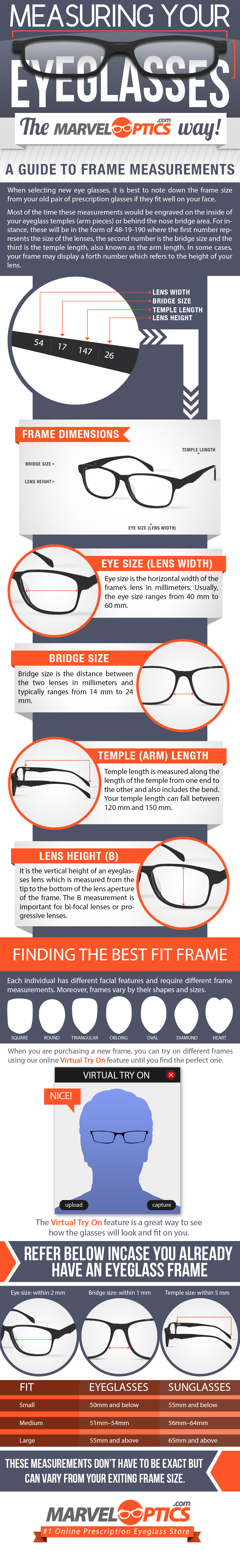 Guide To Eyeglass Frame Measurements
