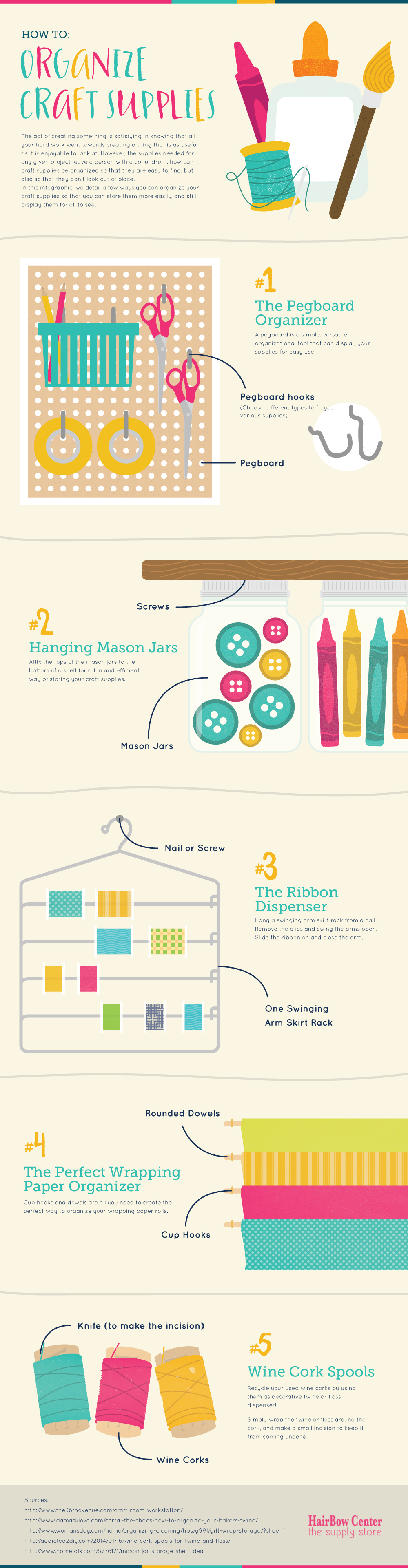 5 Creative Crafting Storage Ideas