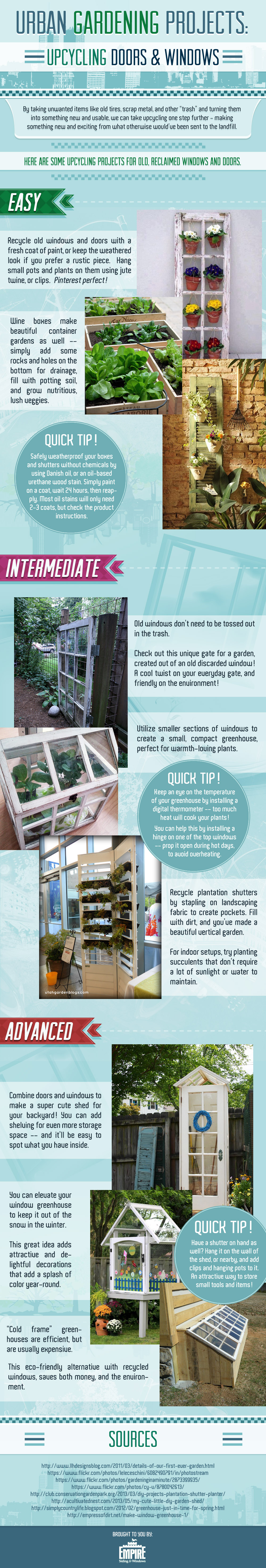 Upcycling Windows & Doors: Wintertime Gardening Projects