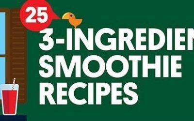 25 Three Ingredient Smoothie Recipes
