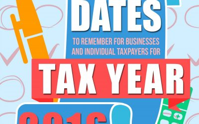 Important Dates to Remember for Tax Year 2016