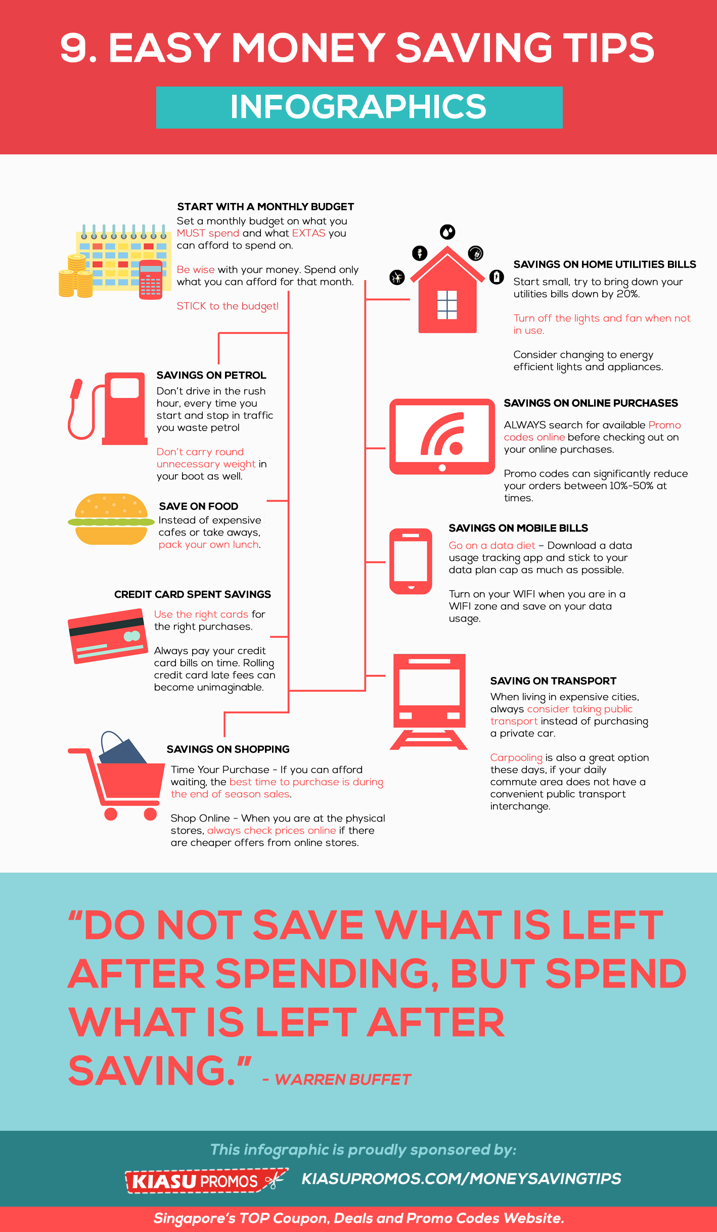 9 easy money savings tips infographic for Best ways to save money when building a house