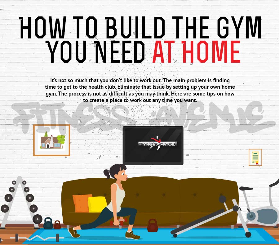 How to build the gym you need at home infographic