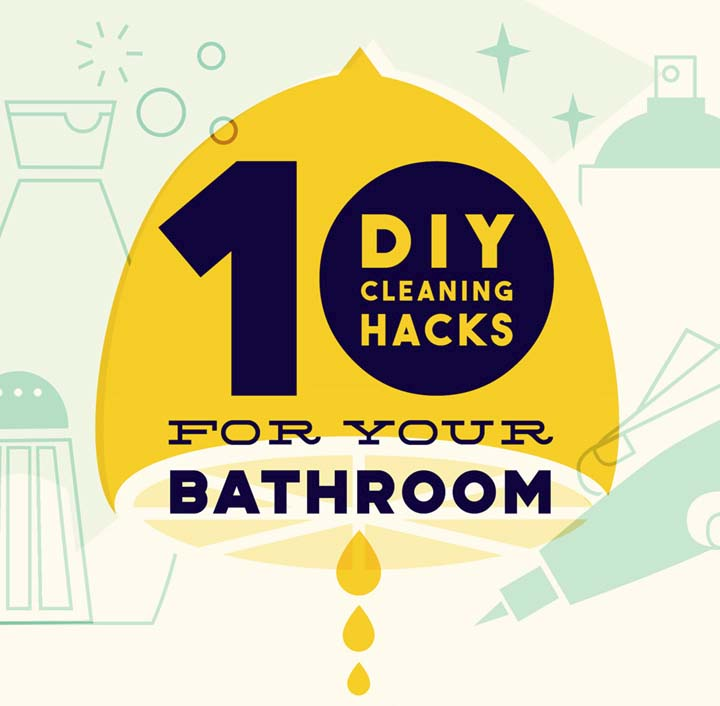 10 diy cleaning hacks for your bathroom infographic
