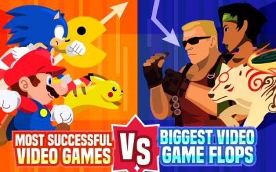 Most Successful Video Games vs. Biggest Flops Throughout the Decades
