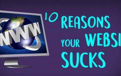 Reasons Your Website Sucks