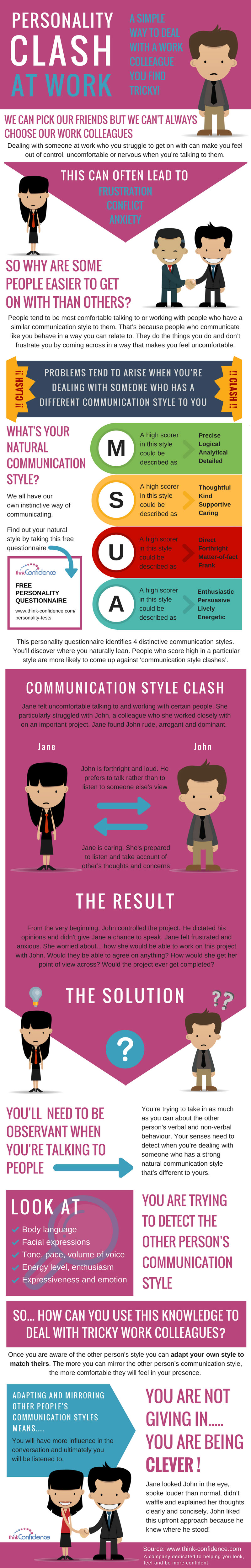 Personality Clash? A Simple Way To Deal With A Tricky Colleague