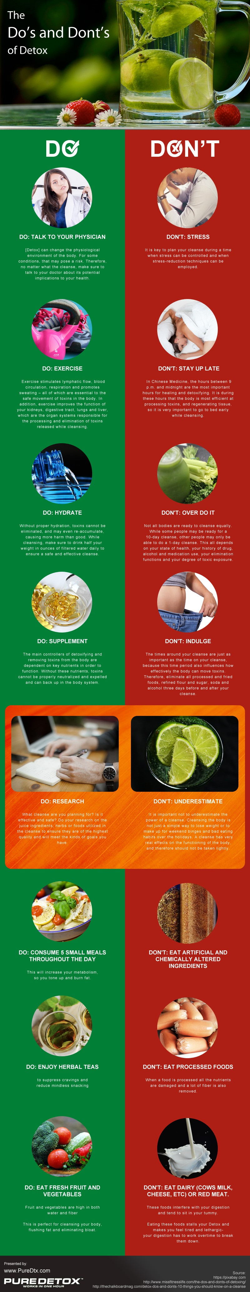 The Do's and Donts of Detox