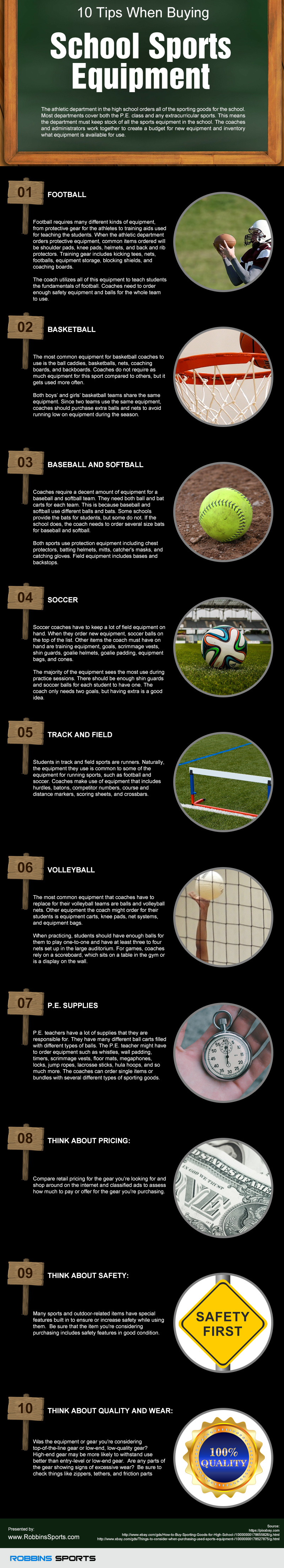 10 Tips When Buying School Sports Equipment
