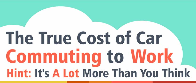 the true cost of car commuting to work infographic. Black Bedroom Furniture Sets. Home Design Ideas
