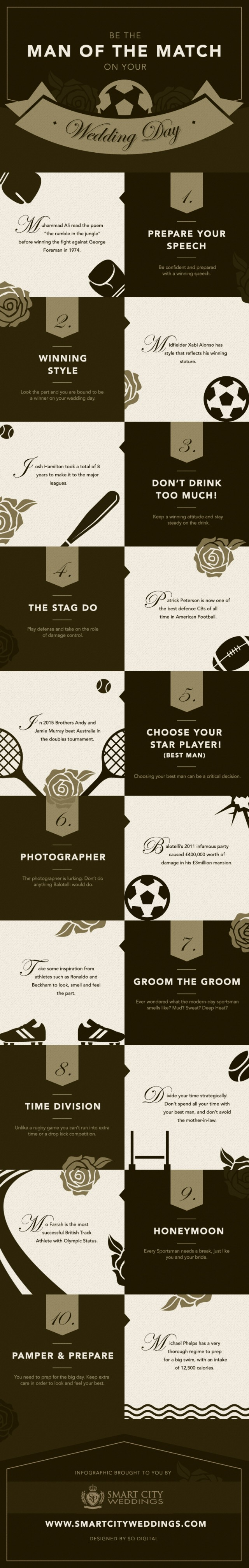Be The Man of the Match On Your Wedding Day