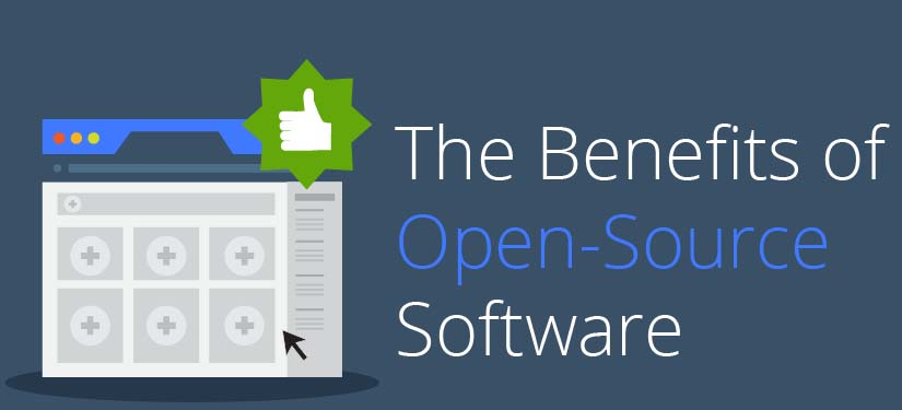 Benefits of open source software infographic Open source graphics software
