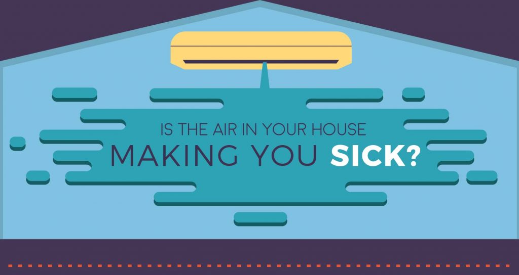 Is the air in your house making you sick infographic Can a dirty house make you sick