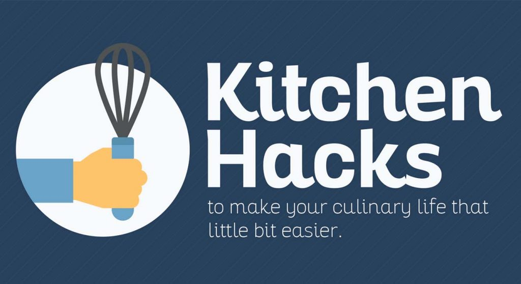 Best kitchen hacks to make your life easier infographic for 9 kitchen life hacks