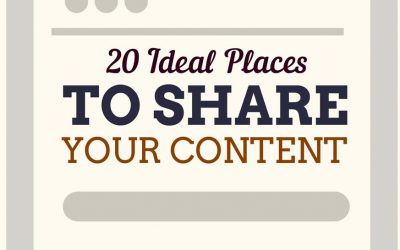 20 Ideal Places To Share Your Content