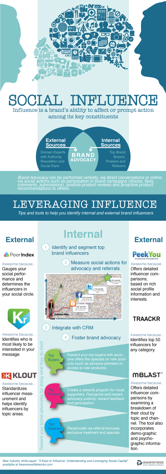 Leveraging Internal and External Social Influence