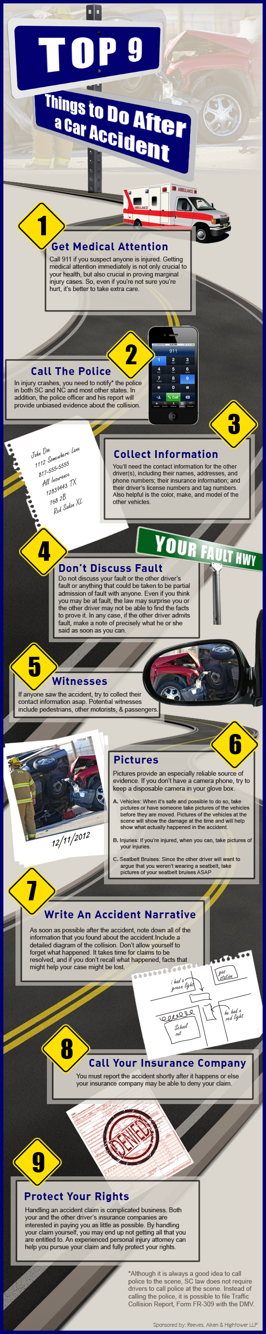 Top 9 Things to Do After a Car Accident