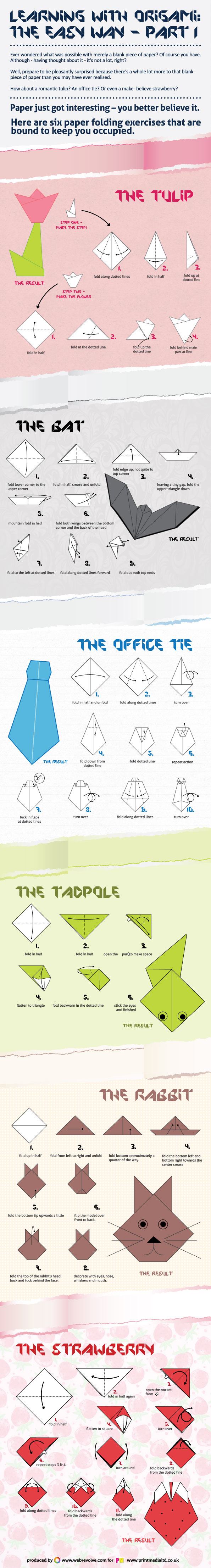 Learning With Origami: The Easy Way