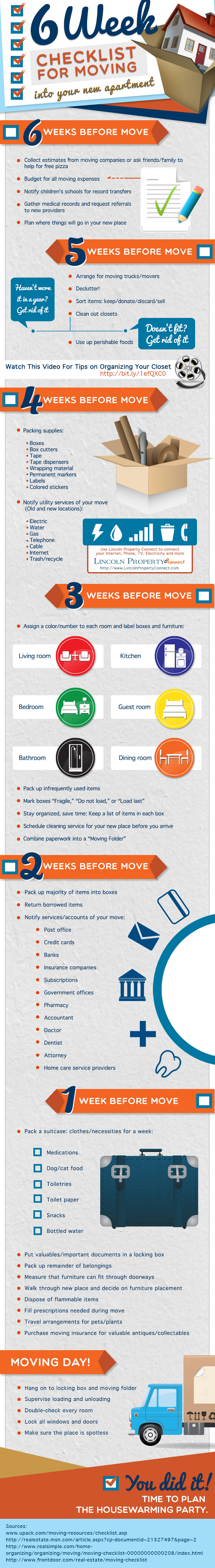 6 Week Checklist For Moving Into Your New Apartment