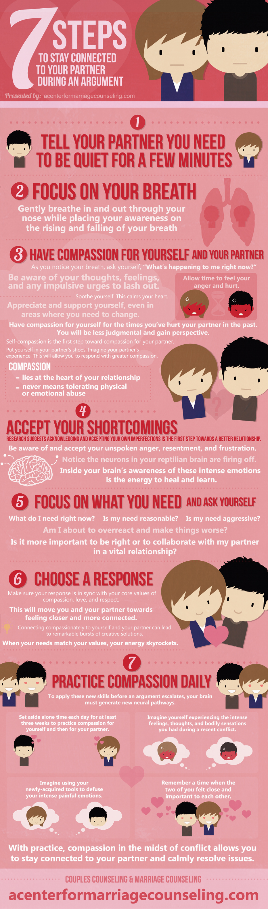 7 Steps To Stay Connected To Your Partner During An Argument