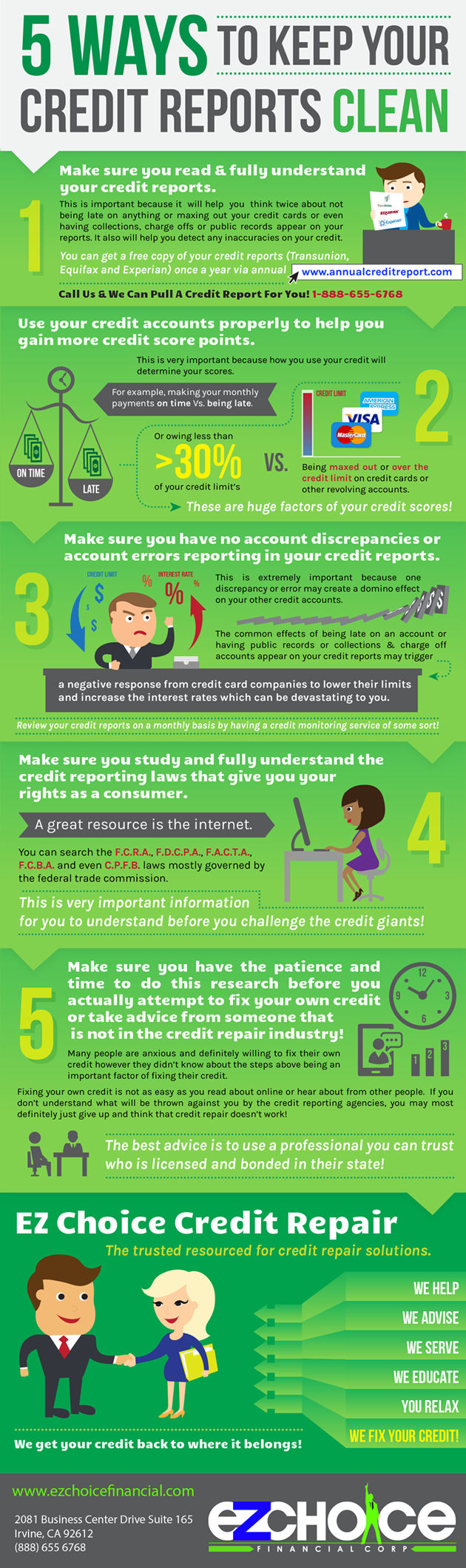 5 Ways To Keep Your Credit Reports Clean