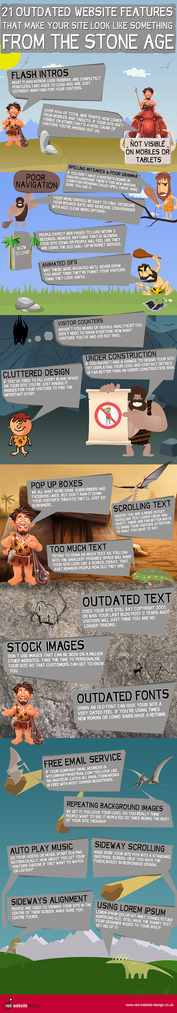 Outdated Features That Make Your Web Site Look Reminiscent of the Stone Age