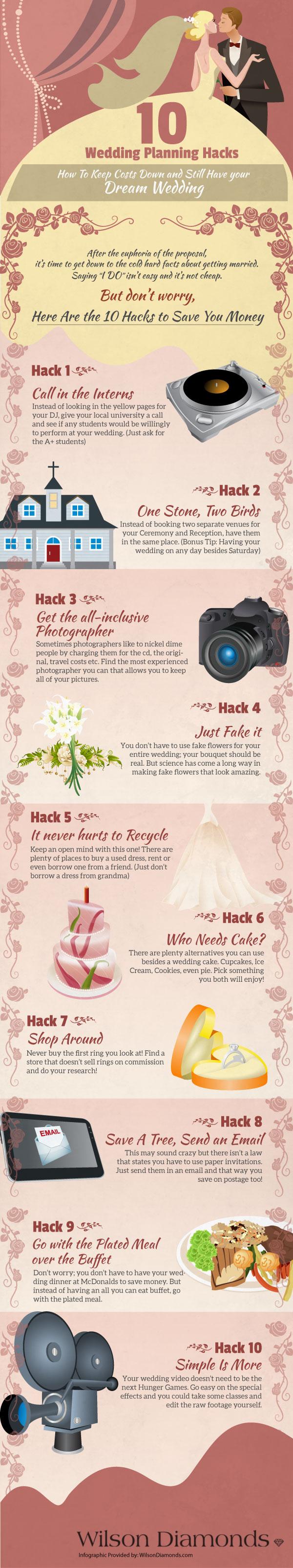 10 Wedding Planning Hacks
