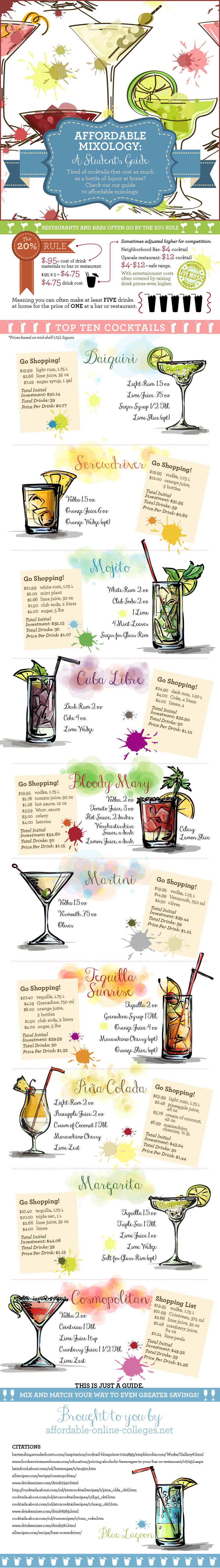 Affordable Mixology: A Student's Guide