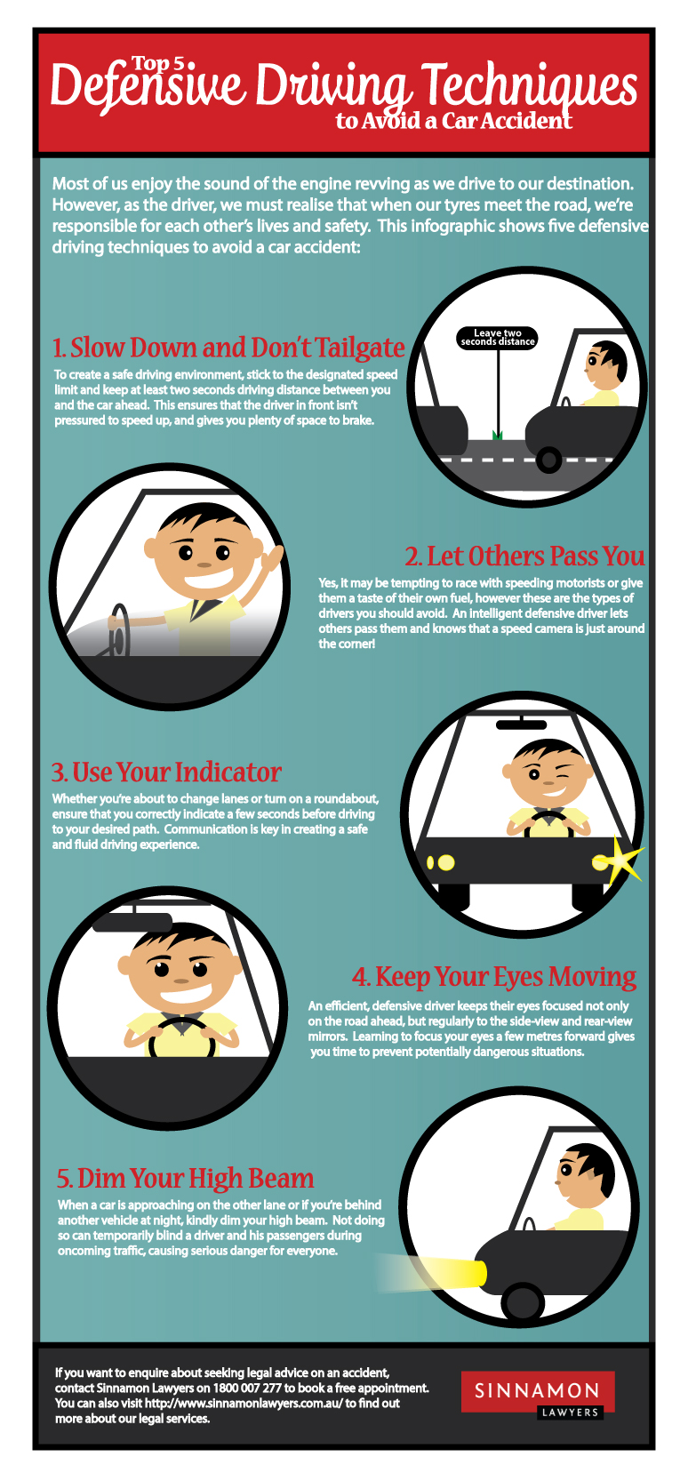 Top 5 Defensive Driving Techniques to Avoid a Car Accident
