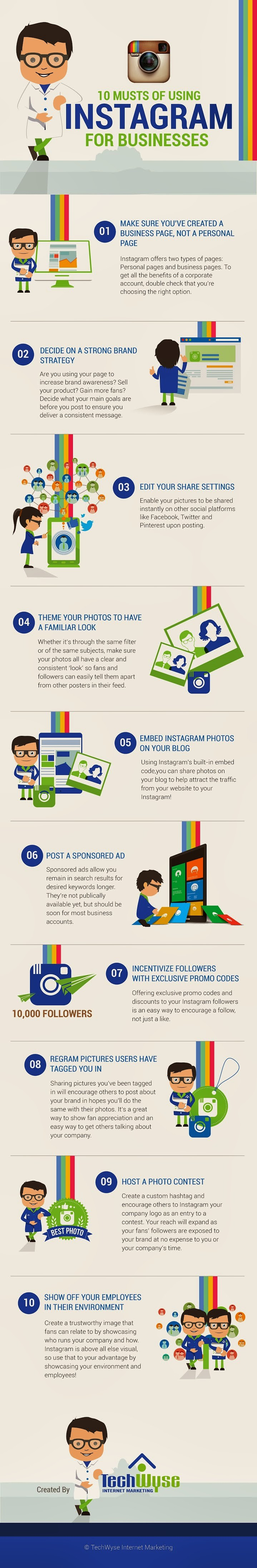 10 Musts of Using Instagram for Businesses