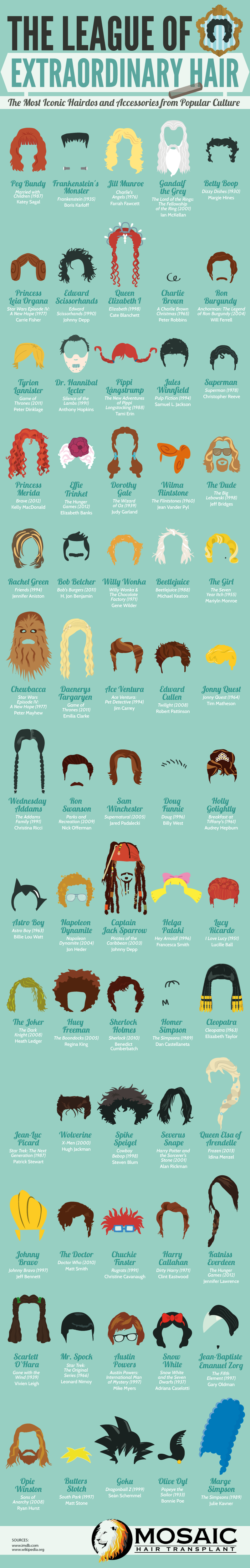 The League of Extraordinary Hair