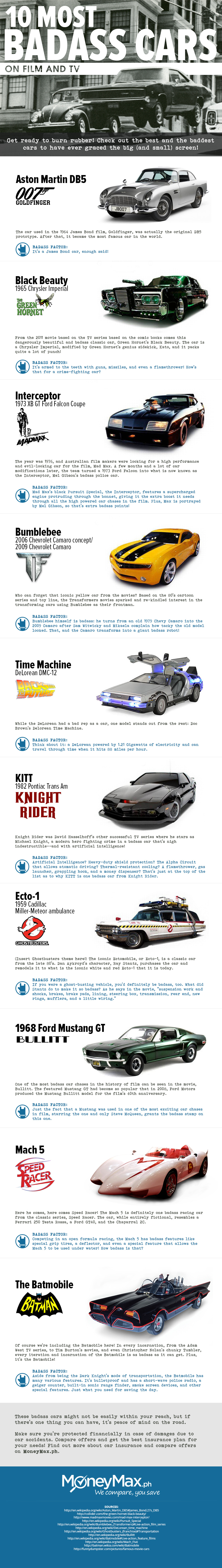 The Ten Most Badass Cars from Movies