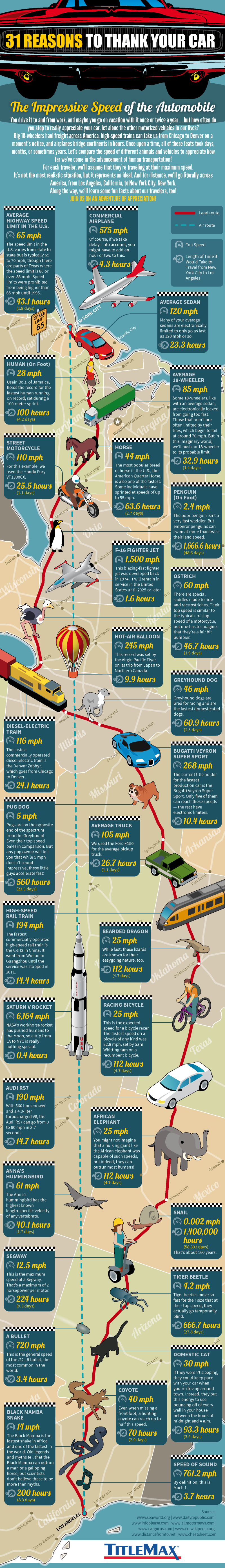 31 Reasons to Thank Your Car