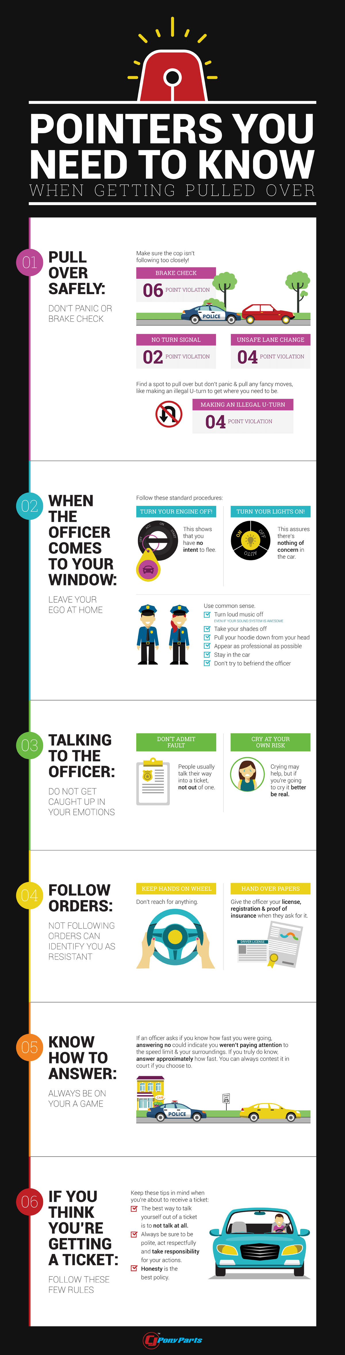 Pointers You Need To Know When Getting Pulled Over