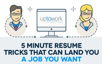 Five Minute Tricks That Will Improve Your Resume