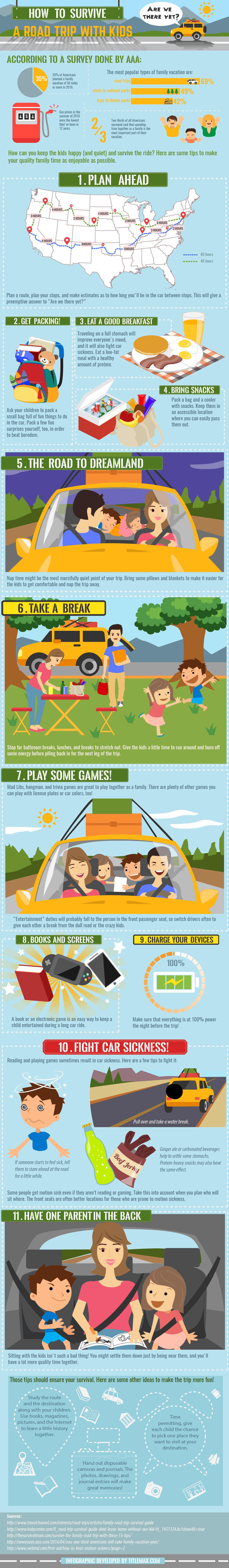 How to Survive Long Road Trips With Kids