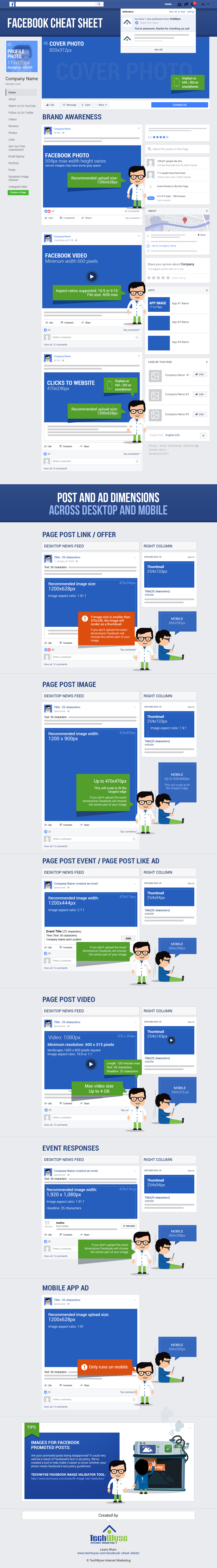 Facebook Image Sizes Cheat Sheet (2017)