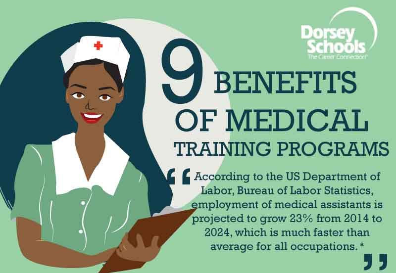 9 benefits of medical training programs  infographic