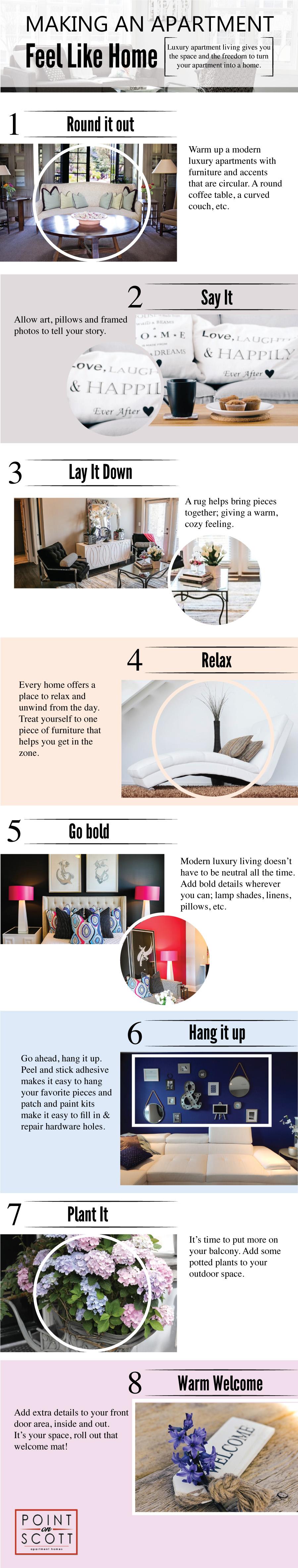 8 Tips for Make an Apartment Feel Like Home