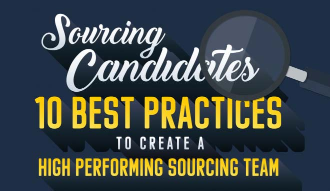 sourcing candidates 10 best practices infographic