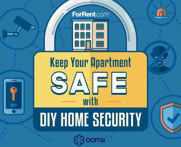 keeping your apartment safe with diy home security infographic. Black Bedroom Furniture Sets. Home Design Ideas