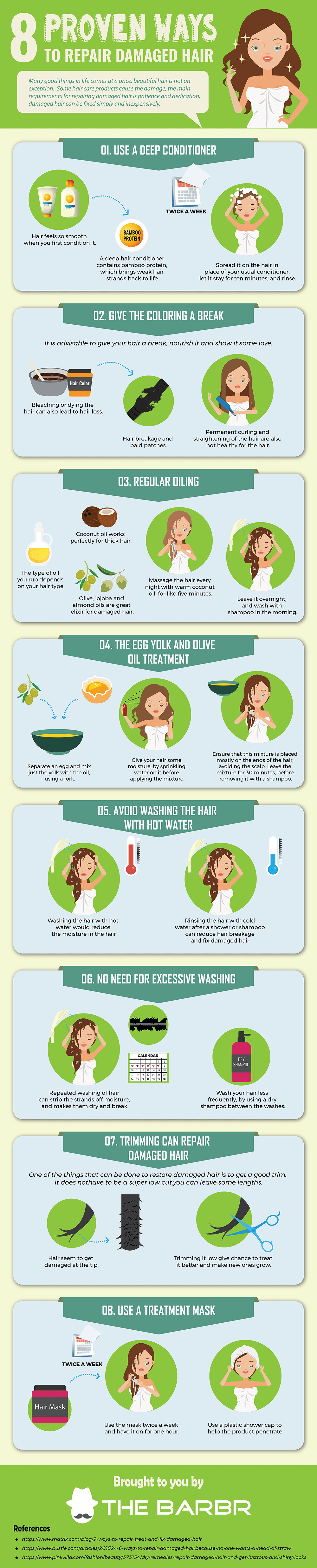 8 Proven Ways to Repair Damaged Hair